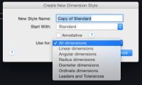One AutoCAD Dimension style, different appearances