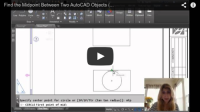 Midpoint Between Two Points in AutoCAD