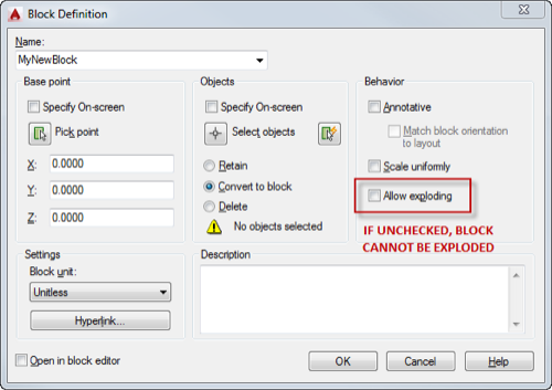 Can't explode that block?